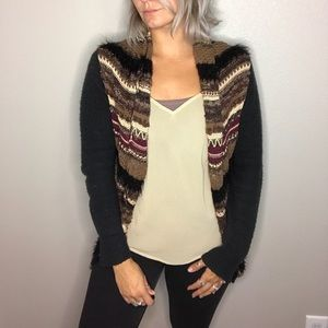 BKE Open Front Sweater